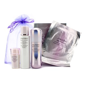 ShiseidoSet White Lucent: Suavizante Enriquecido Iluminador Balanceador W 75ml + Suero Intensivo Dirigido a Manchas 30ml + Hidratante Iluminador Protector N SPF16 15ml + M�scara Iluminadora Intensiva x 2 5pcs