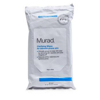 MuradLen�o Facial Clarifying Wipes For Blemish-Prone Skin 30wipes