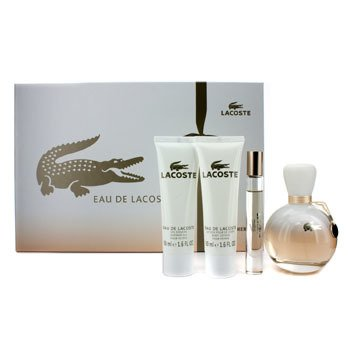 LacosteEau De Lacoste Coffret: Edp Spray 90ml/3oz + Edp Roll On 6ml/0.2oz + Loci�n Corporal 50ml/1.6oz + S 4pcs
