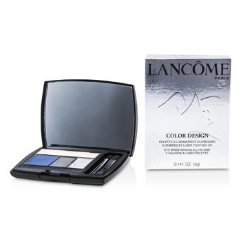 LancomeColor Design 5 Shadow & Liner Palette - # 401 Midnight Rush (US Version) 4g/0.141oz