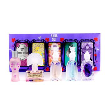 Anna SuiMiniature Coffret: Dolly Girl + Fairy Dance + Flight Of Fancy + Forbidden Affair + Secret Wish 5x4ml/0.14oz