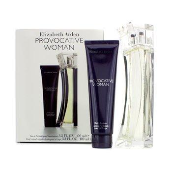 Elizabeth ArdenProvocative Woman Coffret: parfemska voda u spreju 100ml/3.3oz + losion za tijelo 100ml/3.3oz 2pcs