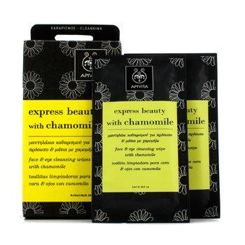 ApivitaExpress Beauty Toallitas Limpiadoras para Cara y Ojos con Manzanilla 6x(5ml/0.16oz)
