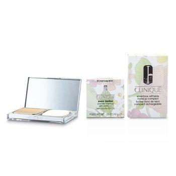 CliniqueEven Better Powder Makeup SPF25 (Case + Refill) - # 64 Cream Beige (M-G) 10g/0.35oz