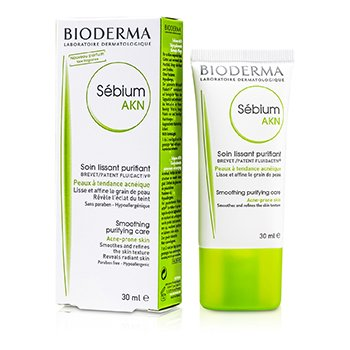 BiodermaSebium AKN Smoothing Purifying Care (For Smoothes and Relines the Skin Texture Reveals Radiant Skin) 30ml/1oz