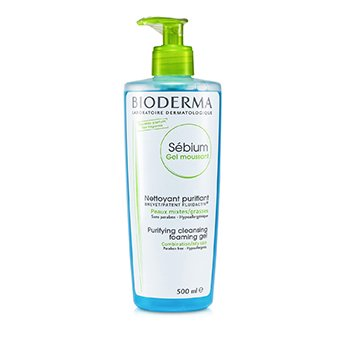 BiodermaSebium Purifying and Foaming Cleansing Gel - For Combination/Oily Skin (With Pump) 500ml/16.7oz