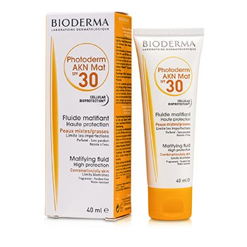 BiodermaPhotoderm AKN Mat High Protection Matifying Fluid SPF30 (For Combination/Oily Skin) 40ml/1.33oz