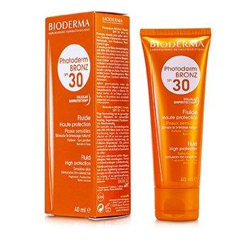 BiodermaPhotoderm Bronz High Protection Sun Fluid SPF30 (For Sensitive Skin) 40ml/1.33oz