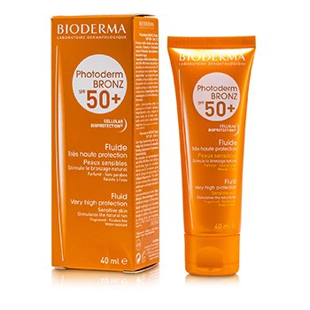 BiodermaPhotoderm Bronz Very High Protection Fluid SPF50+ (For Sensitive Skin) 40ml/1.33oz