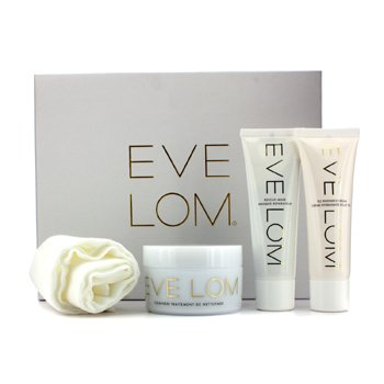 Eve Lom Luxury Collection: Cleanser 100ml + TLC Radiance Cream 50ml + Rescue Mask 50ml + Muslin Cloth  4pcs