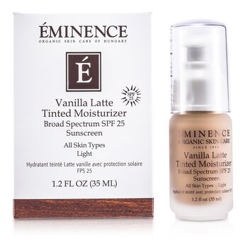 Eminence Vanilla Latte Tinted Moisturizer Broad Spectrum SPF 25 Sunscreen – Light 35ml/1.2oz