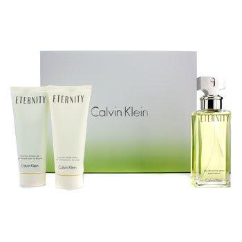 Calvin Klein Eternity Coffret: Eau De Parfum Spray 100ml/3.4oz + Losyen Badan 100ml/3.4oz + Gel Mandi 100ml/3.4oz  3pcs