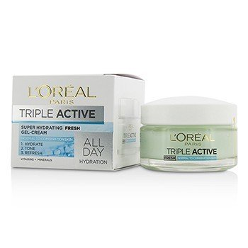 L'OrealTriple Active Fresh Ultra-Hydrating Gel-Cream (For Normal & Combination Skin) 50ml/1.7oz