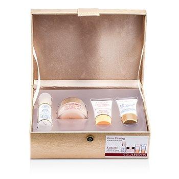 ClarinsCole��o Extra-Firming Luxury Collection: Creme Diurno + Creme Para os Olhos + Creme Para o Pesco�o  + Creme Noturno + Caixa 4pcs+1caixa