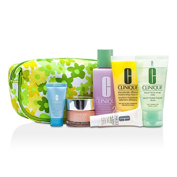 CliniqueTravel Set: Facial Soap + Clarifying Lotion #2 + DDML Plus + Moisture Surge + Turnaround Concentrate + Dark Spot Corrector + Bag 6pcs+1bag