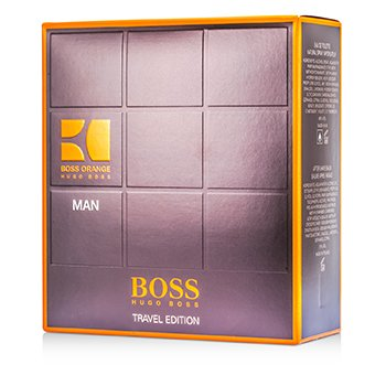 Hugo Boss Boss Orange Man Coffret: Eau De Toilette Spray 100ml/3.3oz + B�lsamo Para Despu�s de Afeitar 50ml/1.6oz + Gel de Ducha 50ml/1.6oz  3pcs