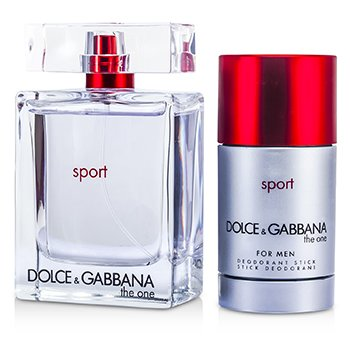 Dolce & Gabbana The One Sport Coffret: Eau De Toilette Spray 100ml/3.3oz + Desodorante en Barra 75ml/2.4oz  2pcs