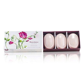 Crabtree & Evelyn Rosewater Triple Jab�n Suave  3x85g/3oz