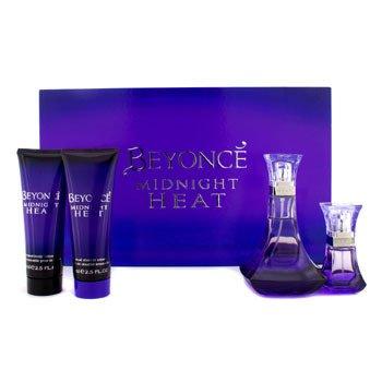 BeyonceMidnight Heat Coffret: Edp Spray 100ml/3.4oz+ Edp Spray 15ml/0.5oz+ Shower Cream 75ml/2.5oz+ Body Lotion 75ml/2.5oz 4pcs