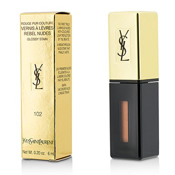 Yves Saint Laurent Rouge Pur Couture Vernis a Levres Rebel Nudes - # 102 Corail Mutin  6ml/0.2oz