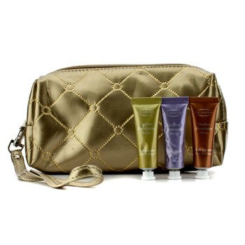 ClarinsSoft Cream Eye Color Set: #03 Sage, #05 Lilac, #08 Burnt Orange (With Golden Cosmetic Pouch) 3pcs+1bag