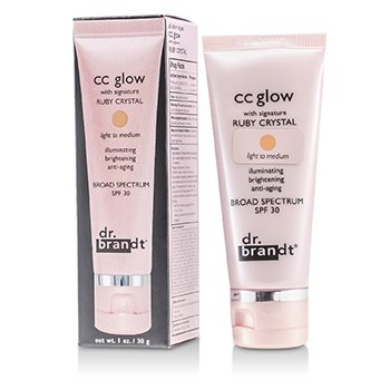 Dr. BrandtCC Glow with Signature Ruby Crystal Broad Spectrum SPF 30 (Light to Medium) 30g/1oz