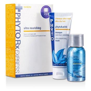 Phyto ReExpress Starter Kit (Ultra Nourishing): Phytonectar Shampoo 50ml/1.7oz + Phytokarite Mask 50ml/1.7oz