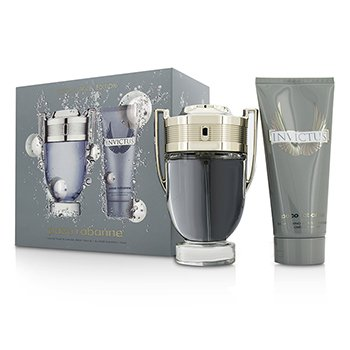 Paco Rabanne Invictus Coffret: Eau De Toilette Spray 100ml/3.4oz + Champ� Para Todo 100ml/3.4oz  2pcs
