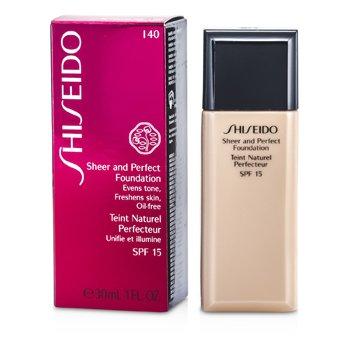 Shiseido Sheer & Perfect Foundation SPF 15 - # I40 Natural Fair Ivory  30ml/1oz