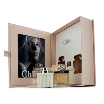 Chloe Chloe Coffret: Eau De Parfum Spray 75ml/2.5oz + Body Lotion 100ml/3.4oz + Miniature 5ml/0.17oz 3pcs at StrawberryNET.com - Skincare-Makeup-Cosmetics-Fragrance