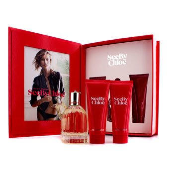 ChloeSee By Chloe Coffret: Eau De Parfum Spray 75ml/2.5oz + Loci�n Corporal 75ml/2.5oz + Gel de Ducha 75ml/2.5oz 3pcs