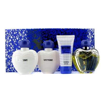 Moschino Toujour Glamour Coffret: Edt Spray 100ml/3.4oz+ Body Lotion 100ml/3.4oz+ Shower Gel 100ml/3.4oz+ Body Gel 50ml/1.7oz  4pcs