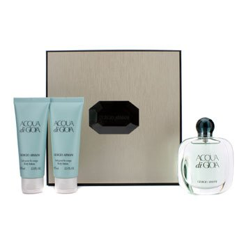 Giorgio ArmaniAcqua Di Gioia Coffret: Eau De Parfum Spray 50ml/1.7oz + 2x Body Lotion 75ml/2.5oz (Beige Box) 3pcs