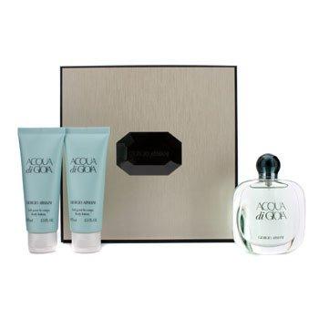 Giorgio Armani Acqua Di Gioia Coffret: Eau De Parfum Spray 50ml/1.7oz + 2x Body Lotion 75ml/2.5oz (Beige Box) 3pcs