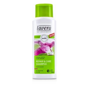 LaveraOrganic Rose & Plant Keratin Champ� Reparaci�n & Cuidado (Para Cabello Estresado & Seco) 200ml/6.6oz