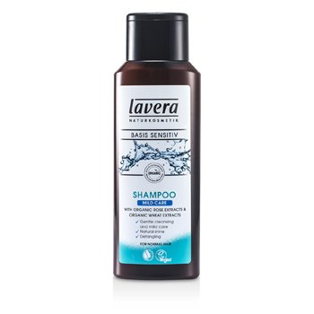 LaveraBasis Sensitiv Mild Care Shampoo with Oranic Rose Extracts & Organic Wheat Extracts (For Normal Hair) 200ml/6.6oz