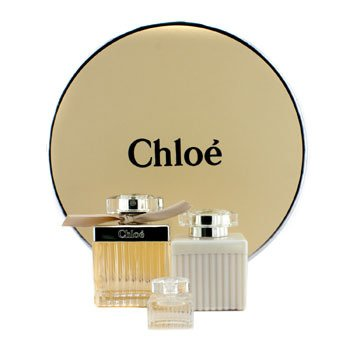 Chloe Chloe Coffret: Eau De Parfum Spray 75ml/2.5oz + Body Lotion 100ml/3.4oz + Miniature 5ml/0.17oz (Round Box) 3pcs at StrawberryNET.com - Skincare-Makeup-Cosmetics-Fragrance