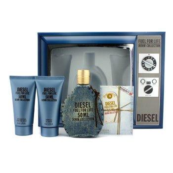 Diesel Fuel For Life Denim Collection Homme Coffret: Eau De Toilette Spray 50ml/1.7oz + Shower Gel 50ml/1.7oz + After Shave Balm 50ml/1.7oz + Sample 4pcs