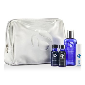 IS Clinical For Men Kit System: Complejo Limpiador + Suero Activo + Suero Hidra Cool + Protecci�n Extrema SPF30 + Bolso  4pcs+bag