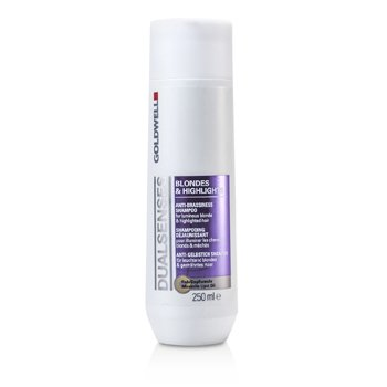 GoldwellDual Senses Blondes & Highlights Anti-Brassiness Shampoo (For Luminous Blonde & Highlighted Hair) 250ml/8.4oz