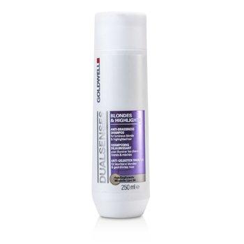 Goldwell Dual Senses Blondes & Highlights Anti-Brassiness Shampoo (For Luminous Blonde & Highlighted Hair)  250ml/8.4oz