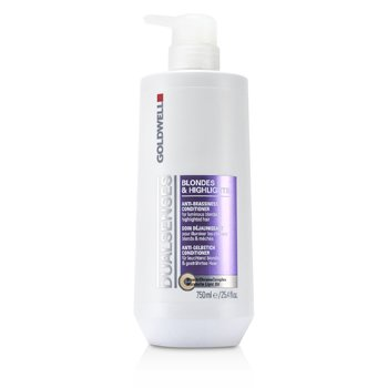 GoldwellDual Senses Blondes & Highlights Anti-Brassiness Conditioner (For Luminous Blonde & Highlighted Hair) 750ml/25.4oz