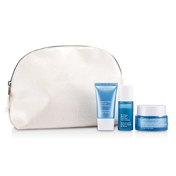 ClarinsHydraQuench Set: HydraQuench Cream 50ml + Cream-Mask 15ml + Serum Bi-Phase 15ml + Bag 3pcs+1bag