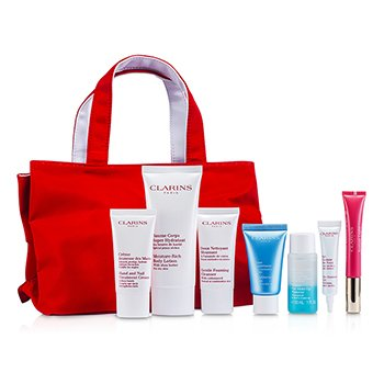 Clarins���������� �����: ��������� �������� 30�� + ���� 30�� + ���� ��� ��� 10�� + �������� ��� ������ ������� 30�� + �������� ��� ��� #01 12�� + ������ ��� ���� 100�� + ���� ��� ��� 30�� + ����� 7pcs+1bag
