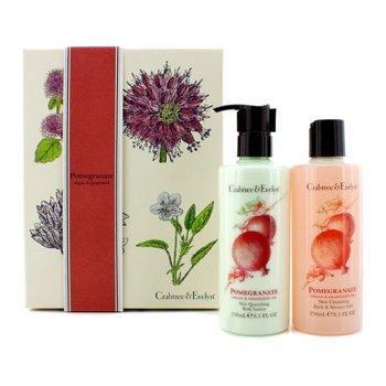 Crabtree & Evelyn Pomegranate, Argan & Grapeseed Perfect Pair: Bath & Shower Gel 250ml +  Body Lotion 250ml  2pcs