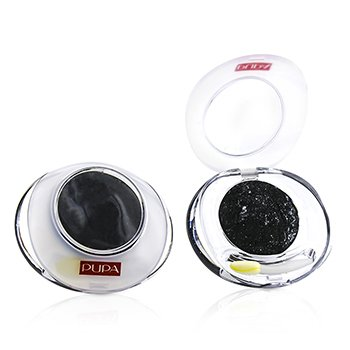 Pupa Luminys Baked Eyeshadow # 12 Shimmering Black (Unboxed  Label Slightly Defect)(Duo Pack) 2x2.2g/0.078oz