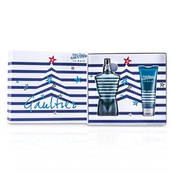 Jean Paul Gaultier Le Male Coffret: Eau De Toilette Spray 125ml/4.2oz + Gel de Ducha Para Todo 75ml/2.5oz  2pcs