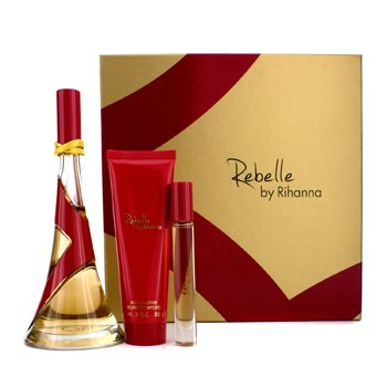 RihannaRebelle Coffret: Eau De Parfum Spray 100ml/3.4oz + Body Butter 85g/3oz + Rollerball 6ml/0.2oz 3pcs