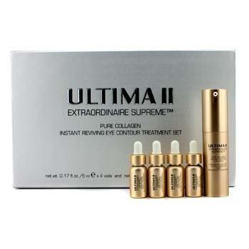 UltimaExtraordinaire Supreme Pure Collagen Instant Reviving Eye Contour Treatment Set: 4xEye Serum 5ml/0.17oz,1xEye Mask 15ml/0.5oz 5pcs