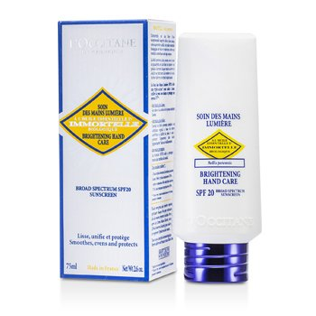 L'OccitaneImmortelle Crema de Manos Iluminante SPF20 75ml/2.6oz